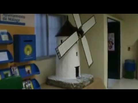 Reproducci n de un molino de viento manchego youtube for Como hacer molinos de viento para el jardin