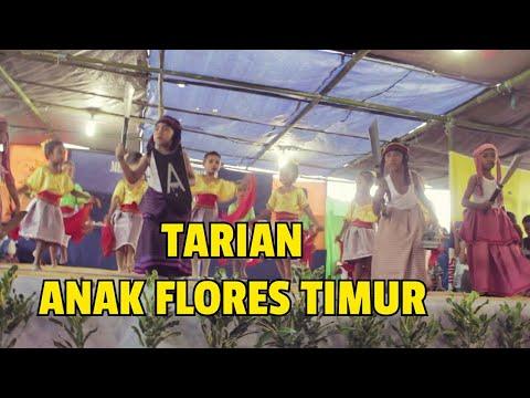 Tarian Daerah Flores Timur Oleh Anak TK Wulanggitang