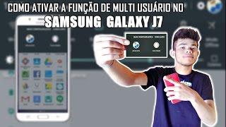Como ativar a função de multi usuário no Samsung Galaxy J7