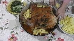 Агнешка плешка с пресни картофи