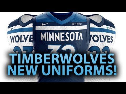 MINNESOTA TIMBERWOLVES NEW UNIFORMS!   COMPLETE REBRAND