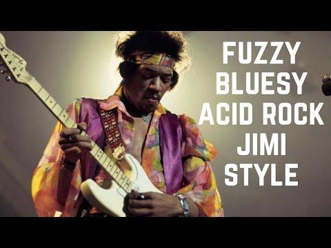 Bluesy Acid Rock  HendrixStyle Fuzzy Guitar Backing Track in D Major