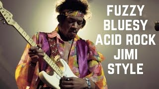 Bluesy Acid Rock - Hendrix-Style Fuzzy Guitar Backing Track in D Major