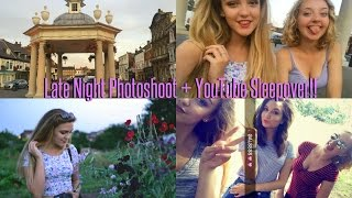VLOG: Late Night Photoshoot + YouTube Sleepover!
