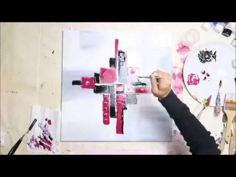 Becometheartistcom Diy Peinture Acrylique Toile Moderne 1 Youtube
