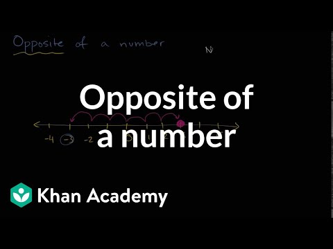 Opposite of a number | Negative numbers | 6th grade | Khan Academy