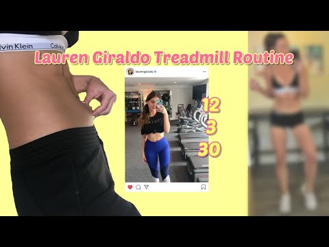 LAUREN GIRLADO TREADMILL ROUTINE   Weight Loss Before and After  ***RESULTS   Yessi Waters Remake