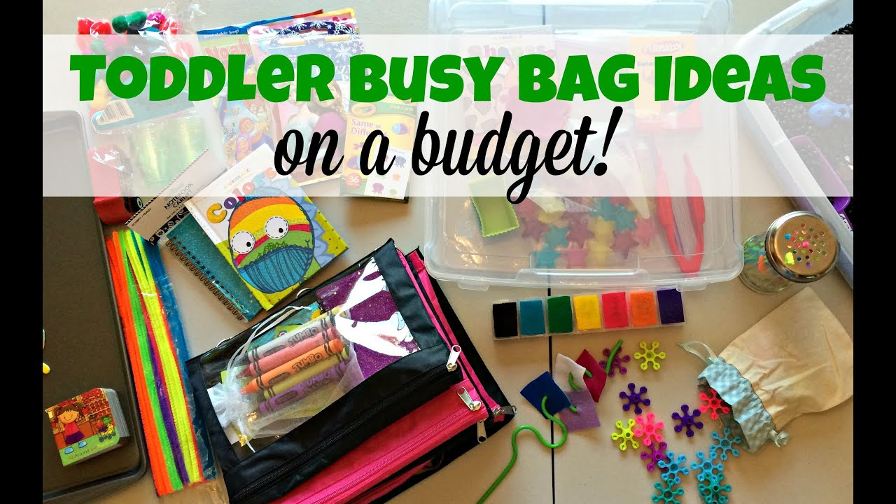 Toddler Busy Bag Ideas On A Budget Youtube