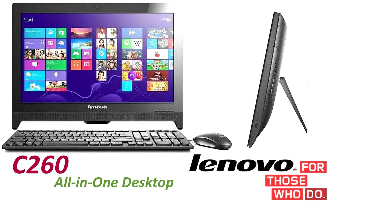 best all in one desktop computer lenovo c260 all in one desktop review youtube