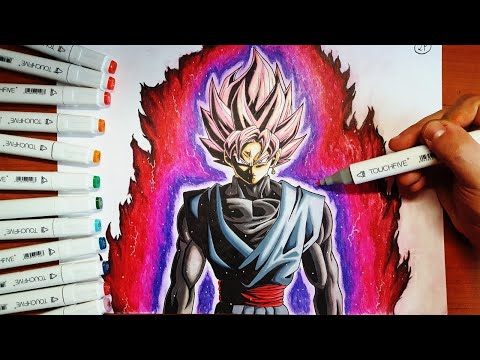 DISEGNO Black Goku SSJ Rose [DRAGONBALL SUPER] Speed Drawing