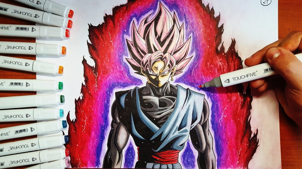 Disegno Black Goku Ssj Rose Dragonball Super Speed Drawing Youtube