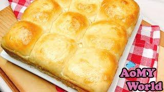 ขนมปังไม่ต้องนวด   ไม่ใช้เครื่อง   วิธีทำขนมปังง่ายๆ   No Knead Dinner Roll Recipe   ออมมี่เข้าครัว
