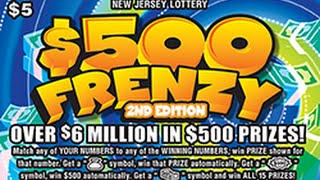 Huge Winner! $200,000 Jackpot! $500 Frenzy Instant Lottery Scratch Off Ticket #93