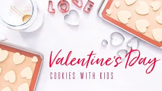 Valentine's Day cookies with kids