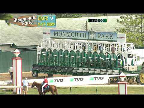 video thumbnail for MONMOUTH PARK 09-27-20 RACE 3