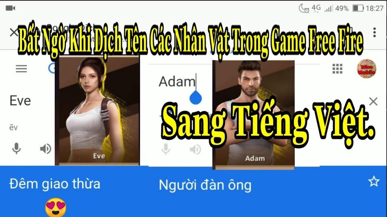 [Garena Free Fire]/Sẽ Ra Sao Nếu Dịch Tên Các Nhân Vật Trong Game Free Fire Sang Tiếng Việt. | Tổng quát các tài liệu về free fire tiếng việt là gì đúng nhất