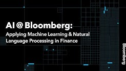 Artificial Intelligence at Bloomberg