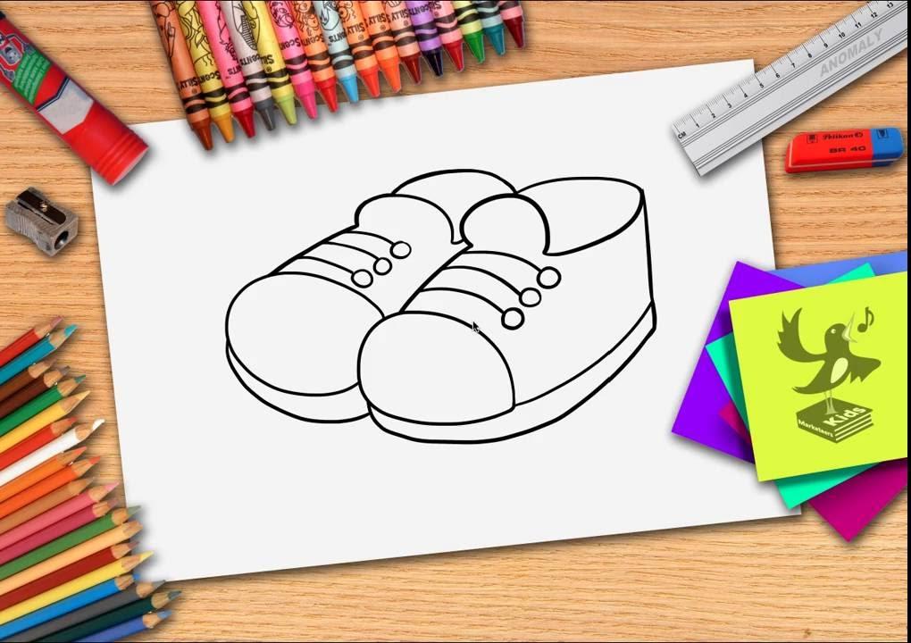 d93add401db Hoe teken je een schoen? Zelf schoenen leren tekenen - YouTube