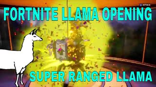 Fortnite - INSANE LUCK! | SUPER RANGED LLAMA w/UPGRADE/FORTNITEMARES LLAMAS | Fortnite Llama Opening