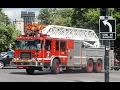 Westmount / Pointe-Claire   Montréal Fire Department (SIM) Ladders 476 + 491 & LR 580 Driving By