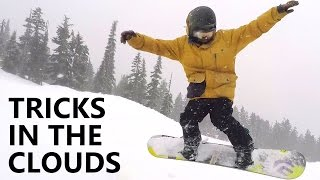 Working on Snowboard Tricks in the Clouds