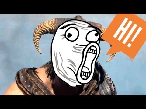 TES V: Skyrim - Funny moments and bugs Part 2