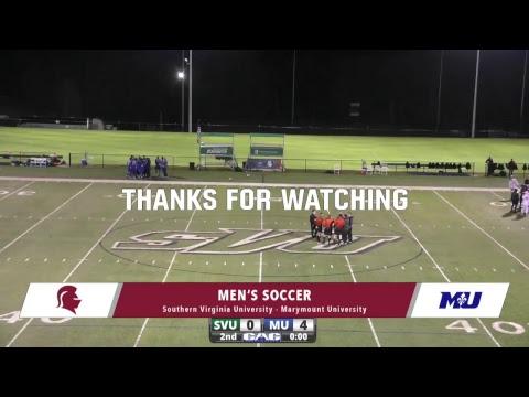 Southern Virginia University Men's Soccer vs Marymount