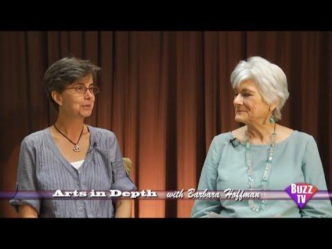 Barbara Hoffman Arts in Depth & Christine Hobart Executive Director  Mckee garden