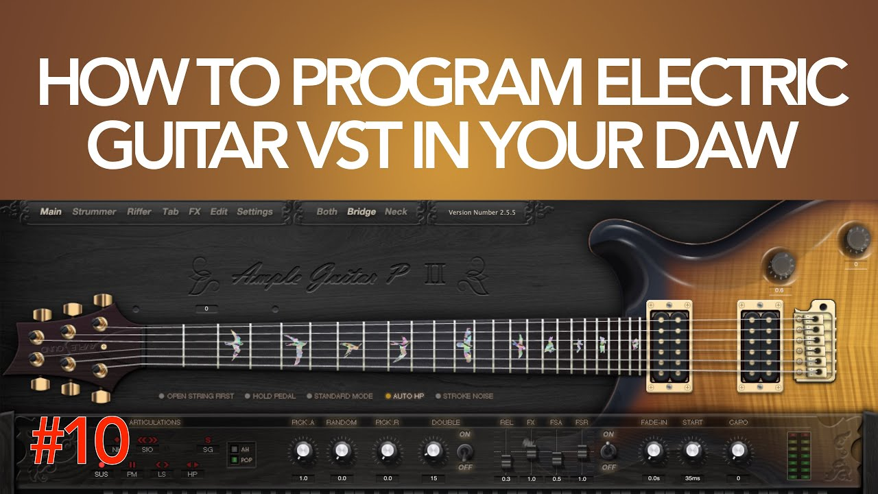 how to program electric guitar vst in your daw exercise 10 youtube. Black Bedroom Furniture Sets. Home Design Ideas
