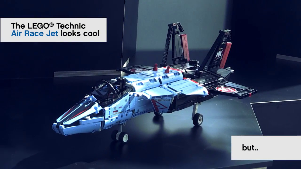 make the air race jet fly lego technic challenge youtube. Black Bedroom Furniture Sets. Home Design Ideas