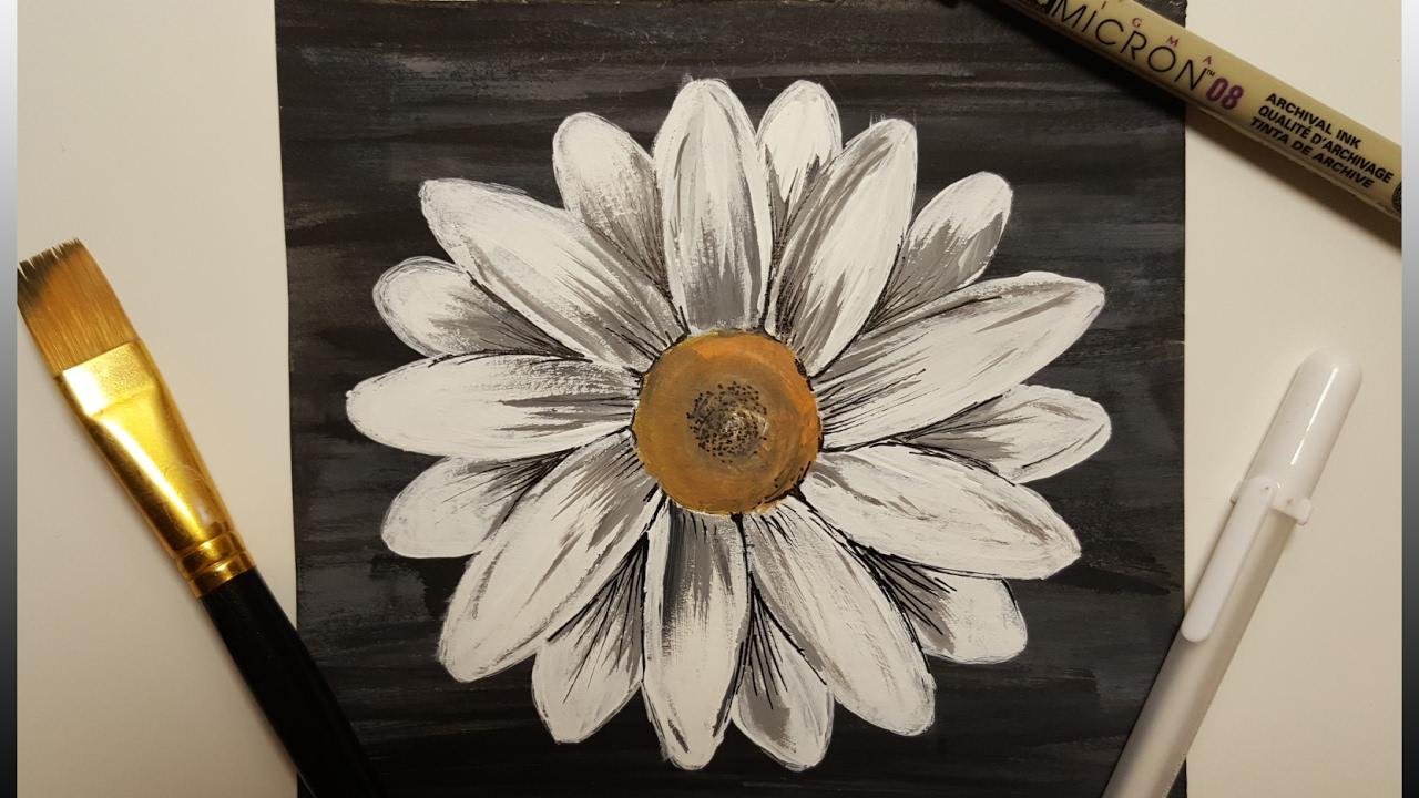 Painting White Flower Timelapse Youtube