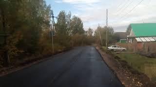 По новому асфальту улица Заводская - Лермонтова г.Луза. 2021 год