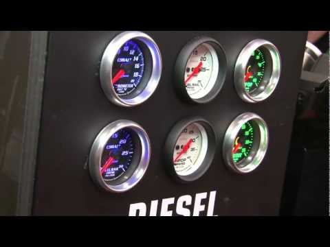 Auto Meter's amazing new Playback Tach, Vintage Series Gauges & Mounting Solutions at SEMA 2011