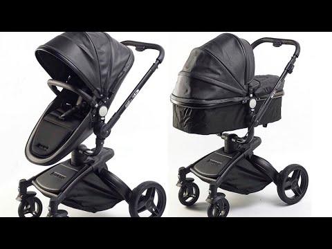 Baby stroller AULON 2in1 Black - YouTube
