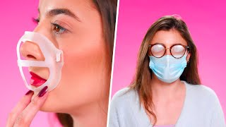 FACE MASK TIPS from Makeup to preventing ACNE | Beauty Hacks