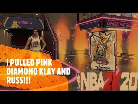 Pink Diamond Klay Thompson & Russell Westbrook!!!   NBA 2K20 MyTeam