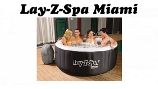 Lay-Z-Spa Miami Portable Hot Tub Inflatable Jacuzzi Style Spa by Bestway