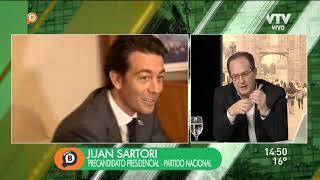 Juan Sartori: Tengo el privilegio de recibir críticas del Presidente, Mujica, Astori y mi partido