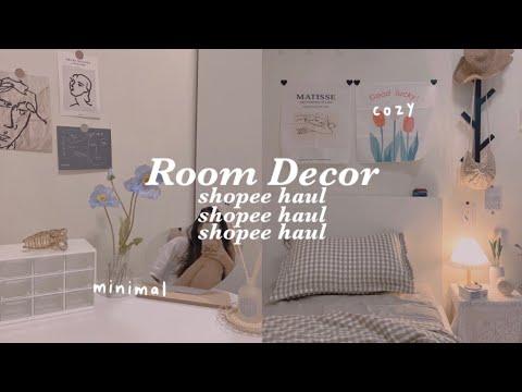 Room Decor \u0026 Unbox 📦🧸 แต่งห้องนอนขนาดเล็กด้วยของจาก shopee พร้อมบอกพิกัด   honeypeanut