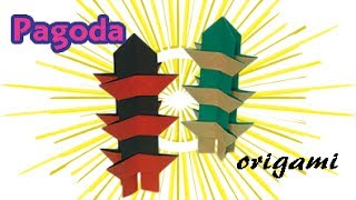 origami pagoda tower easy instructions for beginners how to make paper pagoda buddhist origami