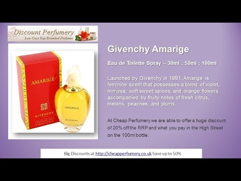 Givenchy Amarige Eau de Toilette Discounted fragrances from Cheap Perfumery  Online