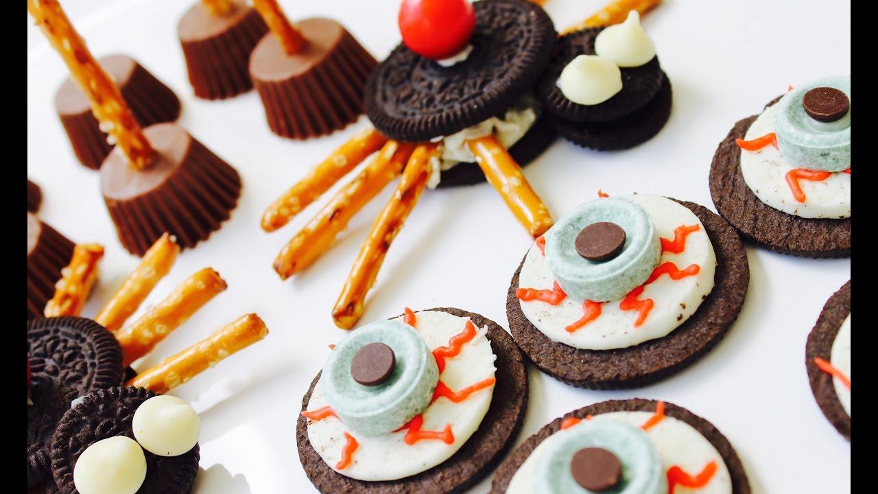 Easy Halloween Snacks.Easy Halloween Recipe How To Make 3 Easy Halloween Snacks Youtube