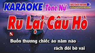 Ru Lại Câu Hò ( Tone Nữ ) - Karaoke Nhạc Sống Tùng Bách