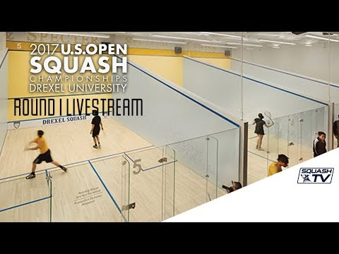 Side-Court Rd 1 Live Stream -  U.S. Open Squash 2017 Presented by MacQuarie Investment Management