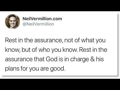 Rest In The Assurance Of Who You Know - Daily Prophetic Word