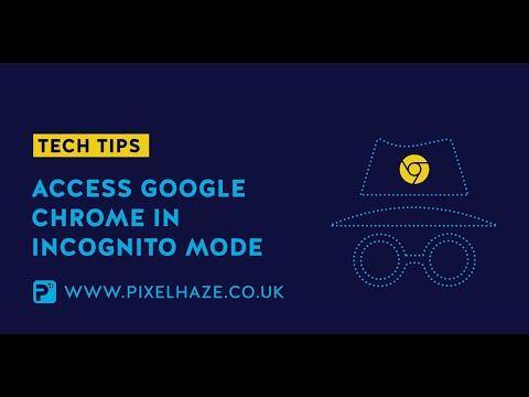 Quickly access Google Chrome Incognito Mode - PixelHaze Tech