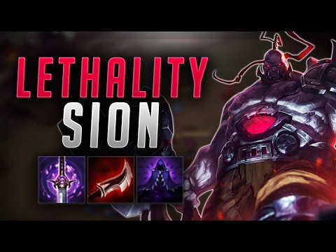 INSANE DAMAGE ON NEW FULL LETHALITY SION BUILD! - Troll Builds That Work #15