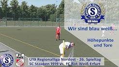 U19 Regionalliga Nordost SC Staaken 1919 vs RW Erfurt 02062019