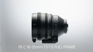 Sony | Lens | FE C 16-35mm T3.1 G | Product Feature