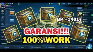 BURUAN COBA!!! 100% WORK MERUBAH VIDEO CHEST JADI BATTLE POINT - Mobile Legends